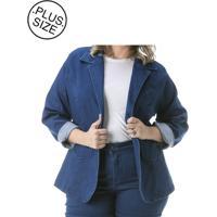 4f8af46092 Blazer Jeans Plus Size - Confidencial Extra Com Gola