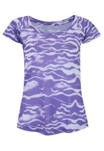 Centauro. Camiseta Fila Ripple - Feminina - Roxo Claro eea7896c20016