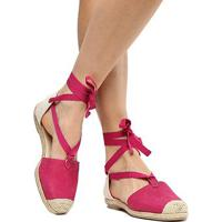 2231462c95 Rasteira Couro Bottero Espadrille Corda - Feminino-Pink