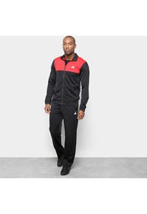 Agasalho Adidas Back2Basics Ts Masculino - Masculino-Preto+Vermelho