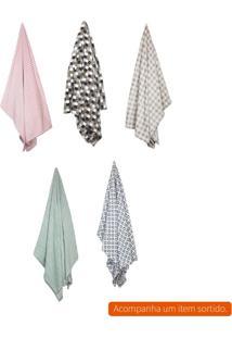 Cobertor Casal Flannel Ii Colorido 220X180 Cm