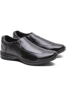 Sapato Social Confort Leve Versales Masculino - Masculino-Preto