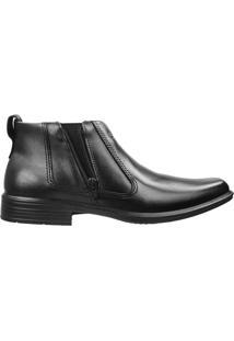 Sapato Abotinado Pegada Masculino Anilina Preto - 40
