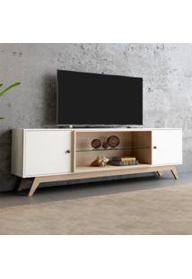 Rack Para Tv 2 Portas 180 Cm R418 Wn2 Off White/Natural - Dalla Costa