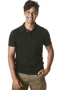 787bf231a5 Camisa Pólo Formal Verde Musgo masculina