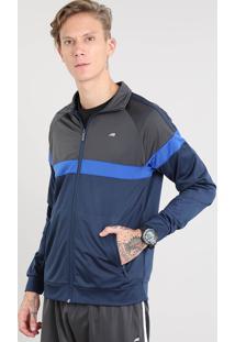 Jaqueta Masculina Esportiva Ace Com Recortes Azul Marinho
