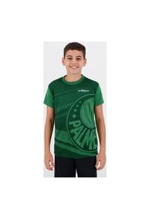 Camisa Palmeiras Waves Juvenil Verde