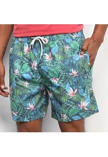 Bermuda Jab Tropical Masculina - Masculino-Verde