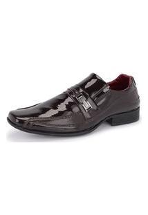 Sapato Social Masculino 836 Verniz Marrom