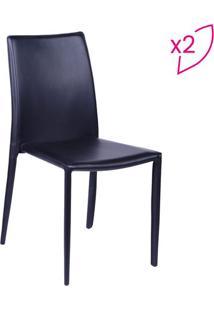 Jogo De Cadeiras De Jantar Glam- Preto- 2Pçs- Oror Design