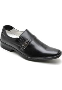 Sapato Social Masculino Couro Recortes Elástico Dia A Dia - Masculino