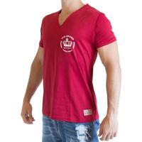 Camiseta Fit Training Brasil Gola V Vermelha 21ecb1bdd4ef9