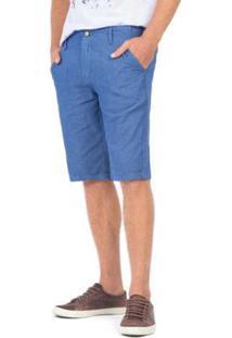 Bermuda Chino Índigo Jeans Masculina - Masculino-Azul