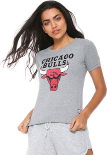 Camiseta Nba Chicago Bulls Cinza