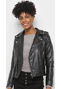 Jaqueta C & V Collection Biker Feminina - Feminino