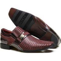 6ebac65b49 Sapato Social Couro Calvest Textura E Costura Manual Masculino - Masculino -Bordô