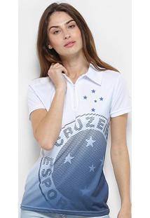 067c13be16e53 Camisa Polo Cruzeiro Shadow Feminina - Feminino