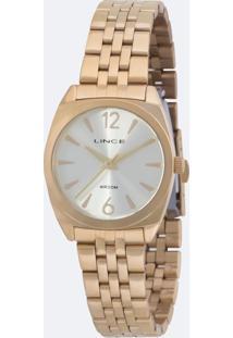 Kit Relógio Feminino Lince Lrgh073L Ku68C2Kx Analógico 3Atm + Conjunto Semijóia