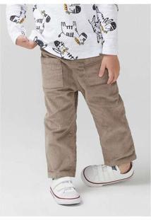 Calça Infantil Menino Em Veludo Cotelê Toddler Beg