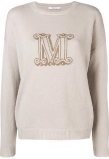 Max Mara Blusa De Moletom Com Logo De Cashmere - Nude   Neutrals dc7f9304ffa
