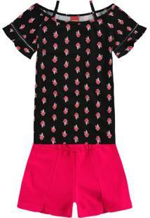 Conjunto Para Menina Cotton Ombro infantil  b9721415b36