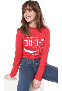 Camiseta Coca-Cola Jeans Aroma Estampada Vermelha