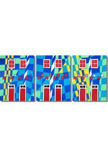 Quadro Painel Decorativo Releitura Quadros De Alfredo Volpi