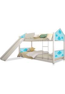 Beliche Prime Casa Juvenil Nuvem Menino Com Escorregador Casah - Azul/Branco - Menino - Dafiti