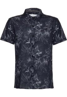 Camisa Mc Ckj Estampa Floral Inverno Com - Preto - 2