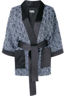 Karl Lagerfeld Kimono Jacquard - Azul
