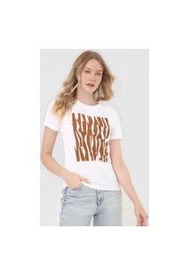 Camiseta Calvin Klein Geométrica Branca