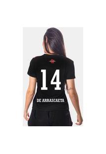 Camiseta Flamengo Cup Feminina 14 De Arrascaeta