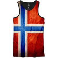 Regata Bsc Bandeira Noruega Sublimada Masculina - Masculino-Azul+Vermelho e60539eaa7b