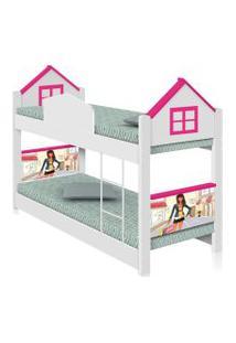 Beliche Infantil Casa Menina Moça Com Colchões Casah