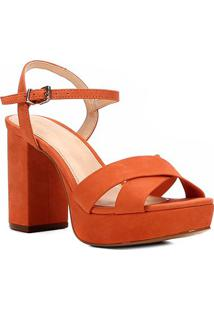 8fcdca3ca Sandália Couro Shoestock Meia Pata Tiras Cruzadas Feminina - Feminino