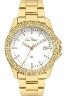 Relógio Condor Feminino Atemporal Analógico - Feminino-Dourado
