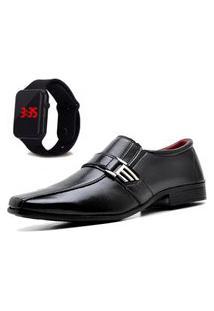 Sapato Social Com Relógio Led Dubuy 809Mr Preto