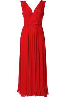 Giambattista Valli Vestido Com Pregas - Vermelho