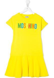 Moschino Kids Vestido Godê - Amarelo