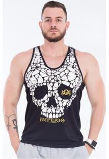 Regata Cavada Skull Império - Masculino