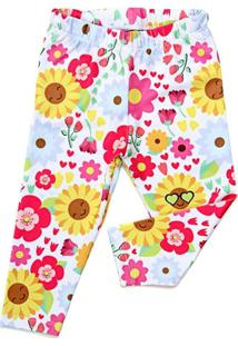 Legging Jokenpô Bebê Floral Girassol - Feminino-Pink