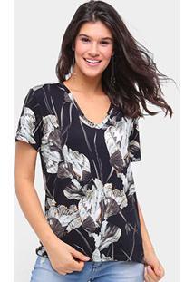 Camiseta Forum Estampada Feminina - Feminino-Preto