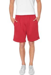 Bermuda Polo Wear Reta Logo Vermelha