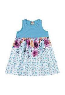 Vestido Infantil Brandili Flores