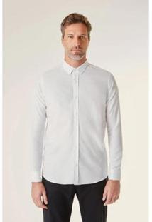 Camisa Reserva Ml Voil Pima Resist Masculina - Masculino-Branco
