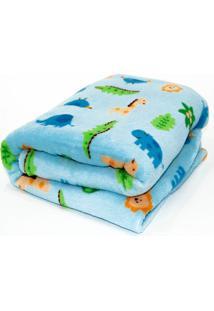 Manta De Microfibra Confort Baby Hazime Zoo Azul
