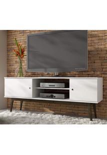 Rack Para Tv Até 50 Polegadas 2 Portas Bpi 11 Wood Brv Móveis Branco / Carvalho Escuro
