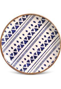 Prato Sobremesa Coup Asteca Cerâmica 6 Peças Porto Brasil