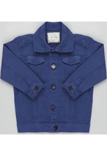 Jaqueta De Sarja Infantil Azul Marinho