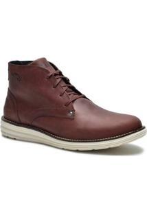 Bota Couro Tchwm Shoes Cano Medio Social Masculina - Masculino
